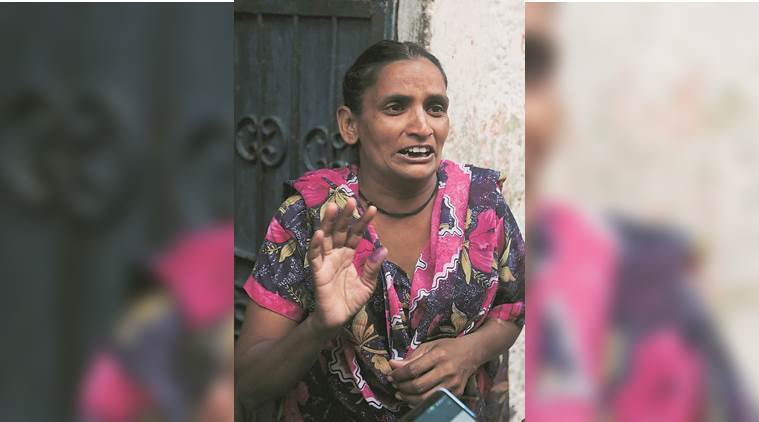 Anil's wife Rani has alleged foul play by the contractor. (Express photo/Prem Nath Pandey)