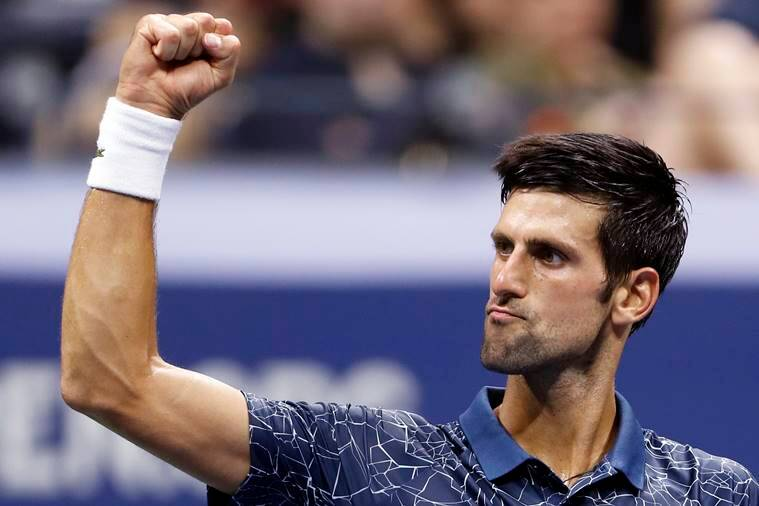 Novak Djokovic, of Serbia, celebrates after defeating Richard Gasquet, of France, during the third round of the U.S. Open tennis tournament Saturday, Sept. 1, 2018, in New York.