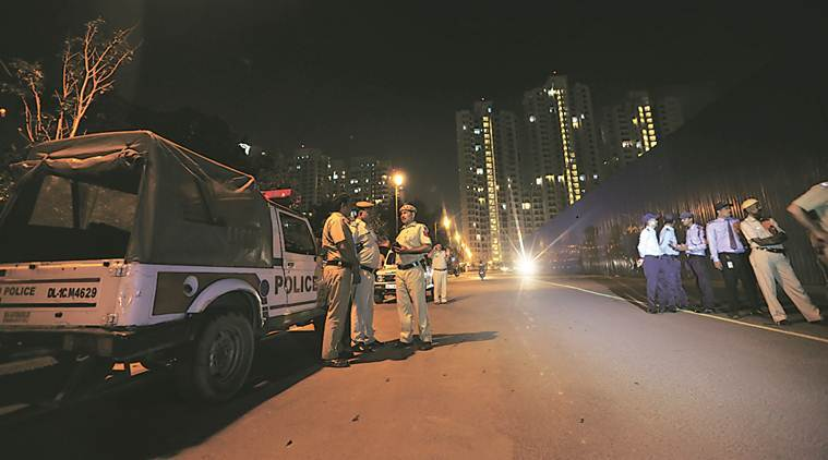 Near the spot where five men died cleaning the sewage treatment plant at DLF Capital Greens. (Express photo/Gajendra Yadav)