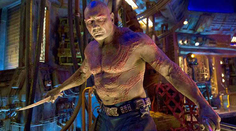 dave bautista as drax in marvel