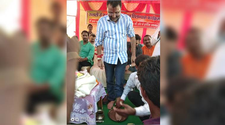Video: Jharkhand BJP worker washes feet of MP Nishikant Dubey, drinks same water