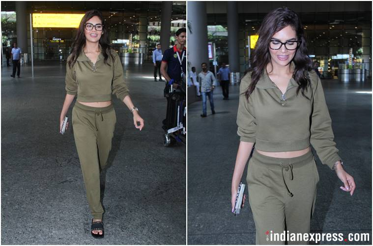 sonam kapoor, anushka sharma, sui dhaaga, esha gupta, sonam kapoor airport look, anushka sharma airport look, esha gupta airport look, celeb fashion, bollywood fashion, indian express, indian express news