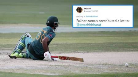 India vs Pakistan: Fakhar Zaman's hilarious 'slog-sweep' attempt is now a meme
