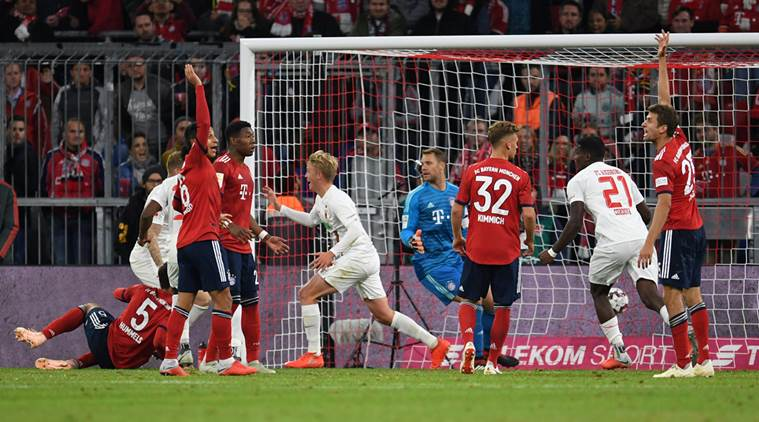 Bundesliga: Bayern Munich held at home by Augsburg after late Felix Goetze equaliser