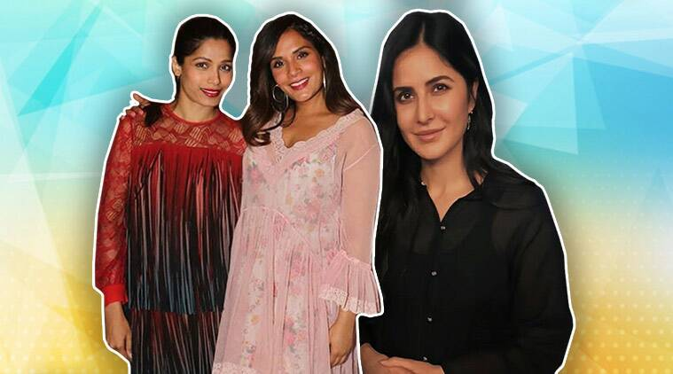 Love Sonia, Katrina Kaif, Frieda Pinto, Richa Chadha, Love Sonia special screening, celeb fashion, bollywood fashion, indian express, indian express news