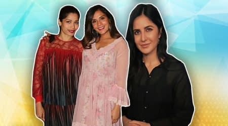 Love Sonia, Katrina Kaif, Frieda Pinto, Richa Chadha, Love Sonia special screening, celeb fashion, bollywood fashion, indian express, indian express news