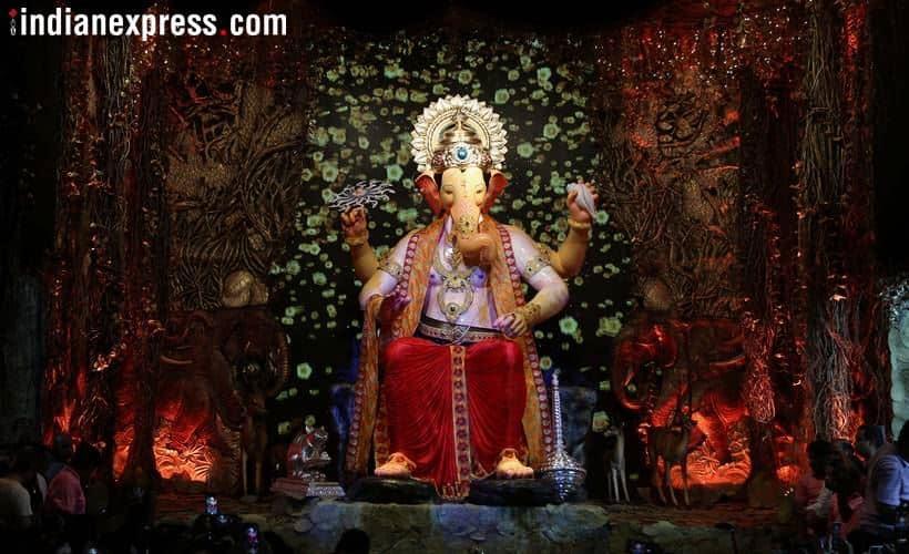 Ganpati Images, Ganapati festival, Ganesh Chaturthi, Lalbaugcha Raja 2018, ganesh puja mumbai, Mumbai festival, tallest idol, Mumbai news, Ganesh Chaturthi photos, Ganapati festival photos