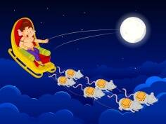 Ganesh Chaturthi story for kids: The Moon's Punishment