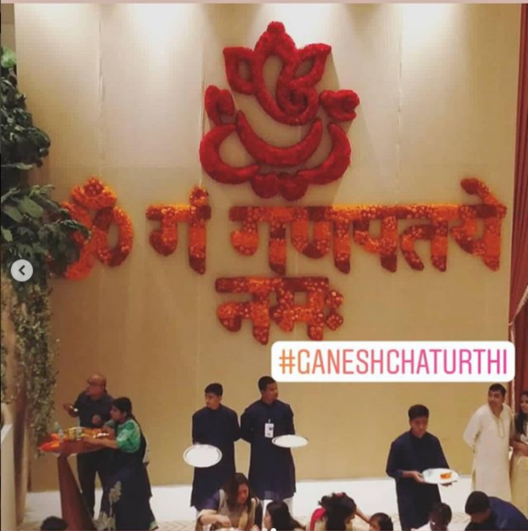 ganesh chaturthi celebrations at ambani's house