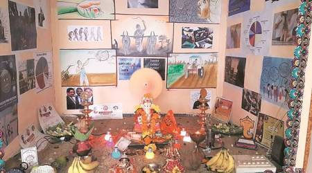 Ganesh puja theme: Welder spreads awareness about mental health and rising incidents ofsuicide
