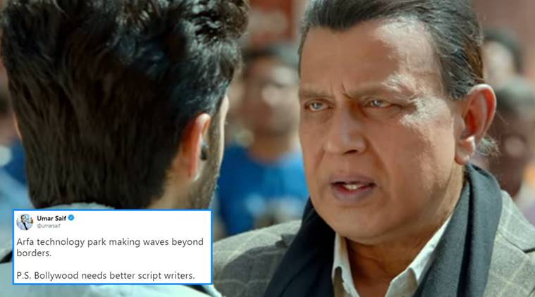 Pakistan, Mithun Chakraborty, Pakistani trolls bollywood movie, genius, bollywood film shows park as ISI building