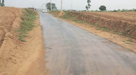 Hope floats in Hamirpur village as first-ever concrete road comes up