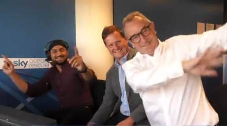 WATCH: Harbhajan Singh teaches 'Bhangra' to David Lloyd in the commentary box