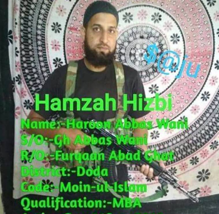 MBA graduate joins Hizbul; Army ready to help if he shuns violence