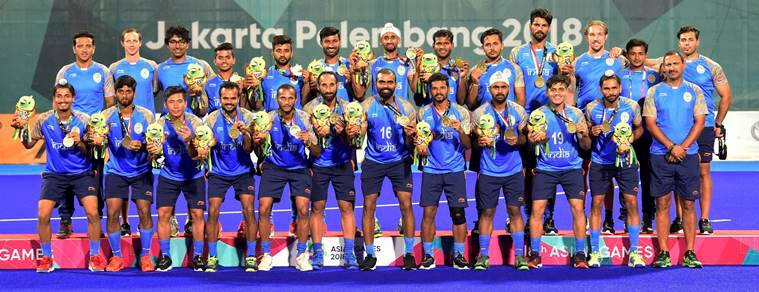 India men's hockey team at the Asian Games