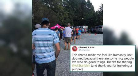 Hurricane Florence: Long line of people waiting outside dog shelter to foster animals is winning hearts online