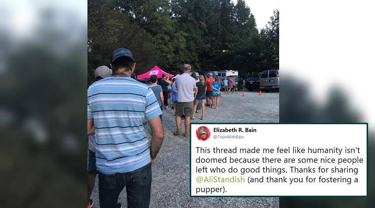 hurricane florence, hurricane florence rescue, hurricane florence evacuation, hurricane florence animal rescue, hurricane florence pets rescue, hurricane florence dogs fostering, hurricane florence dog shelter, carolina dog shelter fostering drive, viral news, good news, indian express