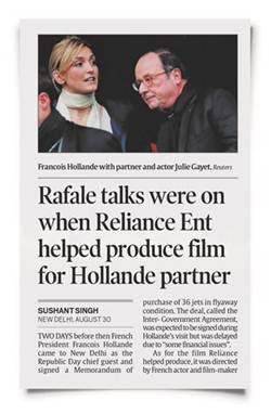 france government full statement on rafale deal between india and president hollande and reliance