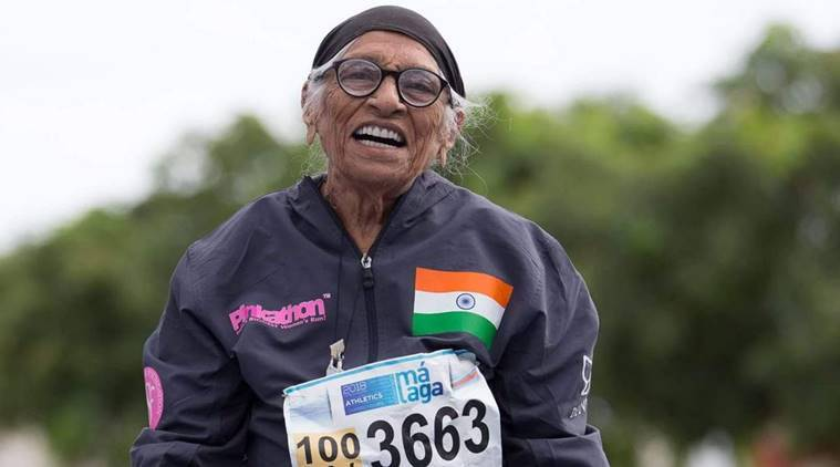 india's oldest athlete, india's oldest female athlete, milind suman, oldest woman, oldest indian woman, World Masters Games, 100m gold, man kaur, man kaur 101 years gold, oldest 100m winner, oldest sports, oldest athletics winner, patiala marathon, indian express news, sports news, athletics news