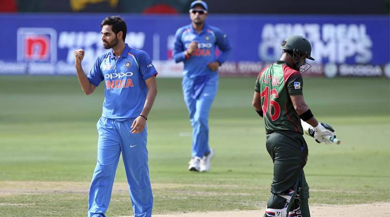 Bhuvneshwar Kumar needs 4 more wickets to complete 100 ODI wickets (photo - getty)