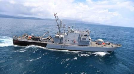 Indian Navy ships in Myanmar for joint patrol