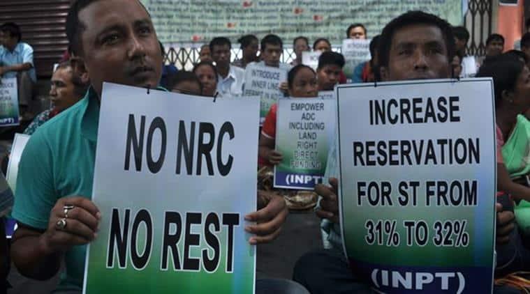 INPT, INPT protest, INPT protest tripura, Tripura INPT protest, Citizenship amendment bill 2016, TTAADC areast, tripura news, indian express, latest news