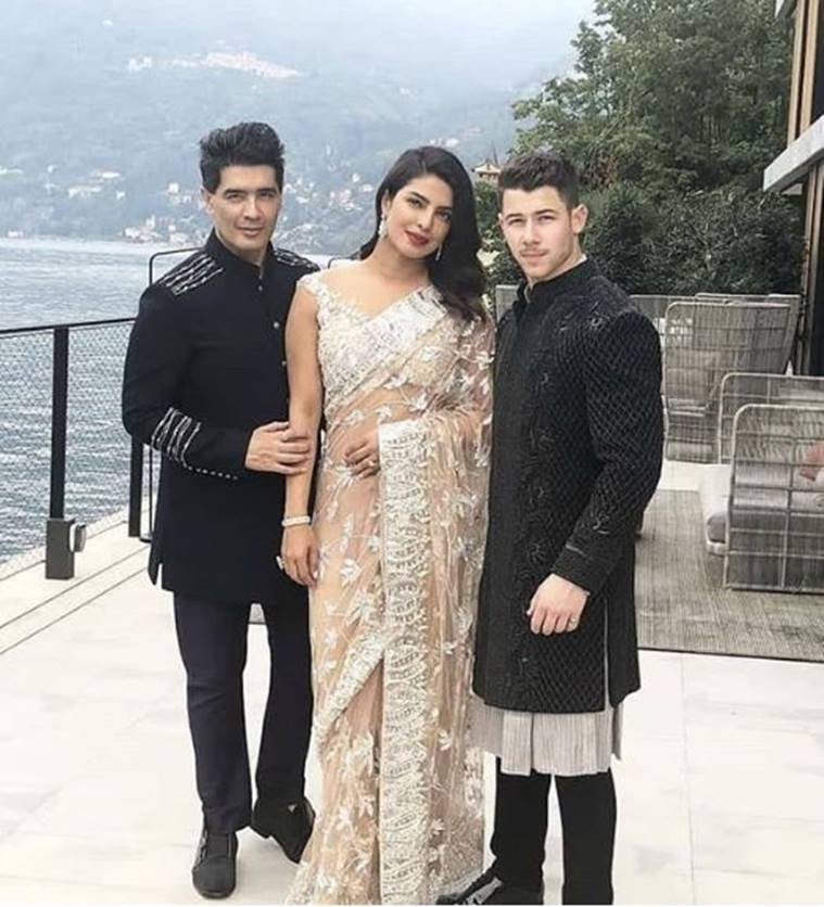 priyanka chopra, nick jonas, janhvi kapoor, sonam kapoor, anand ahuja, juhi chawla, isha ambani engagement photos, isha ambani anand parimal engagement, priyanka nick photos, janhvi kapoor latest photos, indian express