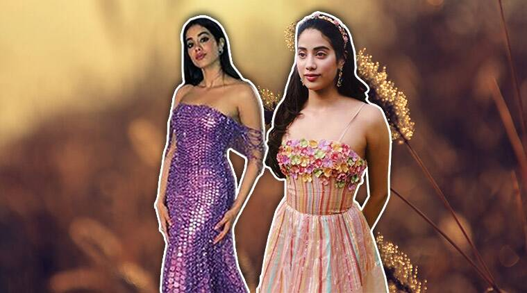 janhvi kapoor, janhvi kapoor manish malhotra, janhvi kapoor manish malhotra gown, rahul mishra, janhvi kapoor rahul mishra, janhvi kapoor recent photo, indian express, indian express news