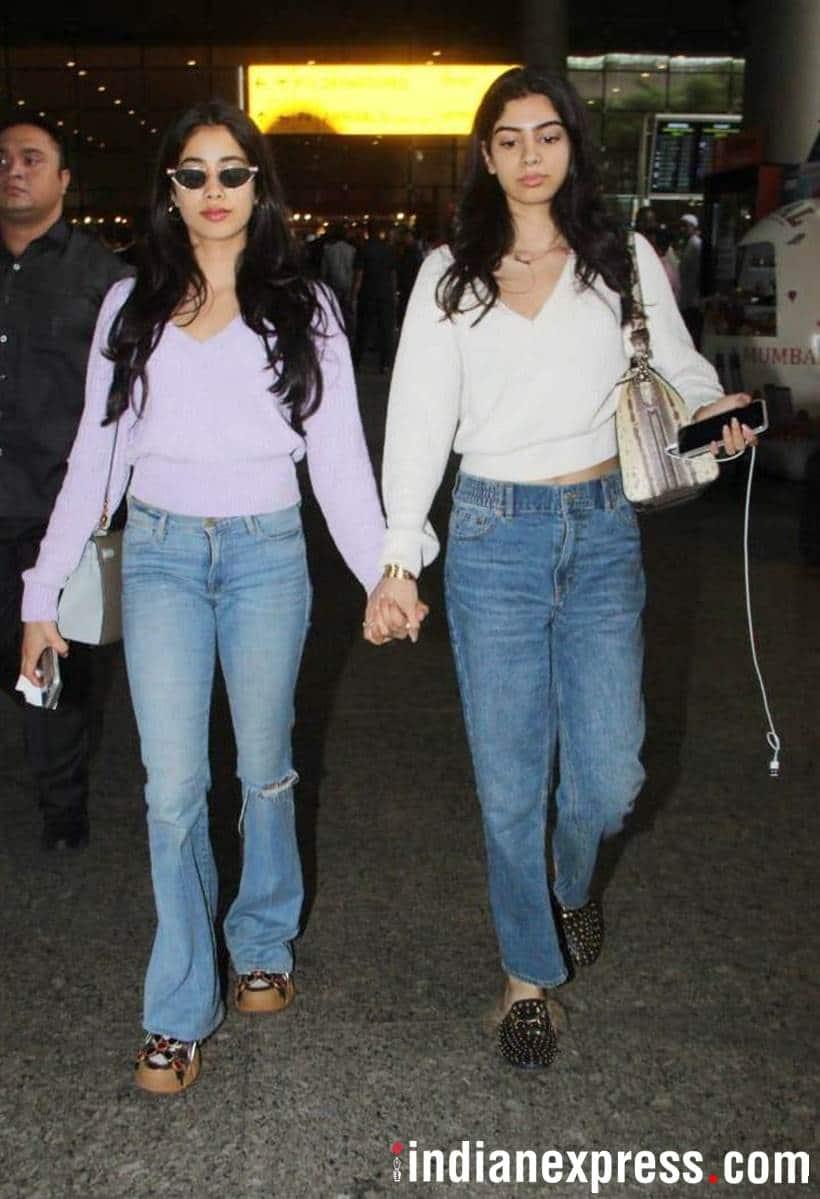Janhvi Kapoor and sister Khushi Kapoor