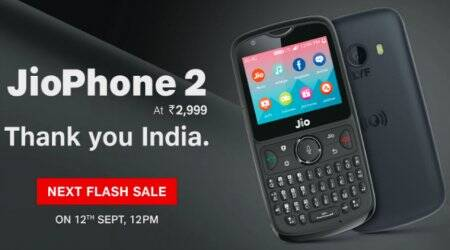 Jio Phone 2 flash sale from 12 PM on September 12: Price,specifications
