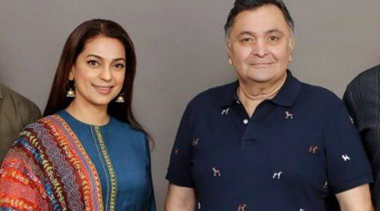 Rishi Kapoor, Juhi Chawla to reteam for family comedy after