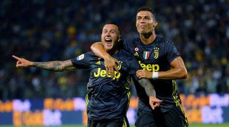 Serie A Roundup: Cristiano Ronaldo recovers from red card misery to help Juventus win2-0