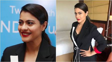 Kajol shows how to play up a boring black pantsuit with colours