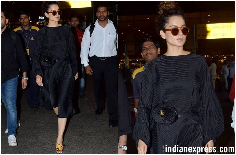 Best airport looks, Best airport looks bollywood, Kareena Kapoor Khan, Kangana Ranaut, Esha Gupta, Shilpa Shetty, celeb fashion, bollywood fashion, indian express, indian express news