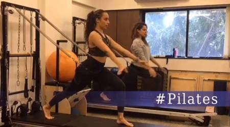 WATCH: Kangana Ranaut shows how to make morning workout more challenging