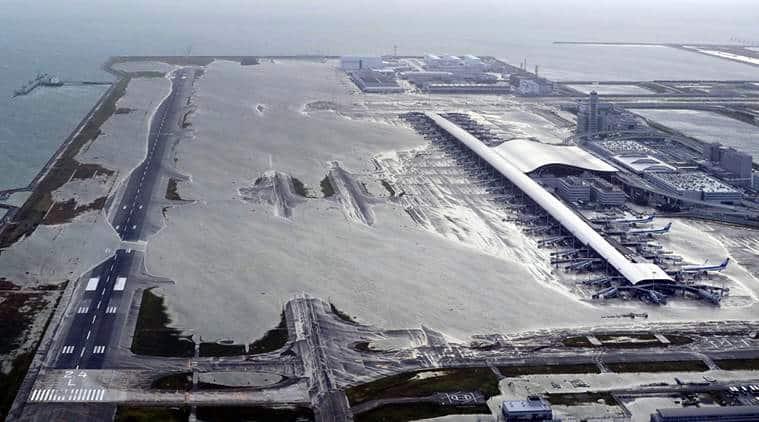 The flooded Kansai airport
