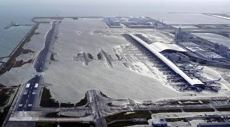 The flooded Kansai airport