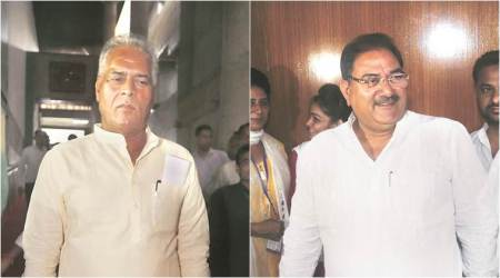 Haryana Vidhan Sabha session: LoP, Congress MLA trade abuses, brandish shoes at each other