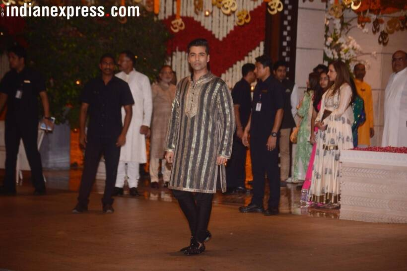 karan johar at ganesh chaturthi celebrations