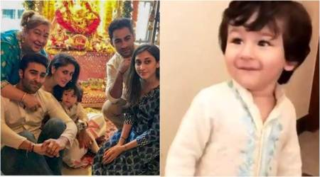 Kareena Kapoor and Taimur Ali Khan celebrate Ganesh Chaturthi, see photos and videos