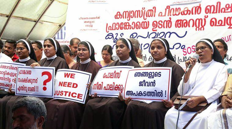 Kerala nuns join protest against bishop accused of rape