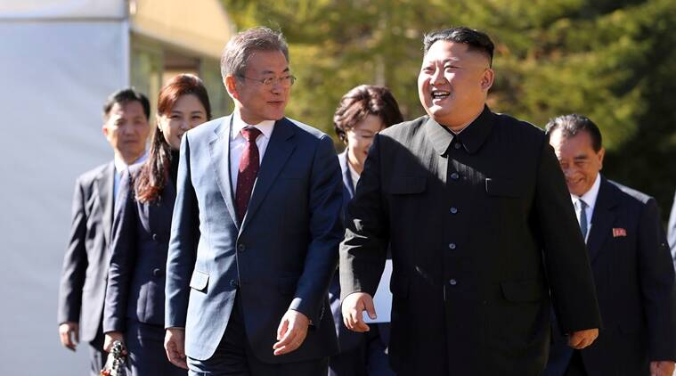 North Korea, South Korea, Kim Jong Un, Moon Jae-in, South north korea relations, denuclearisation north korea, world news, indian express, latest news
