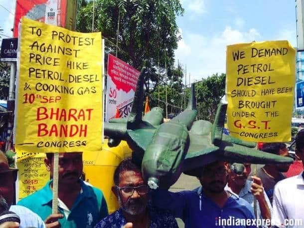 Bharat Bandh: Rahul Gandhi leads protest in Delhi; violence reported in Bihar, Gujarat