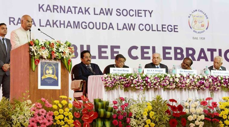 Educational institutions, President Kovind, Ram Nath Kovind, Karnatak Law Society, Raja Lakahamgouda Law College