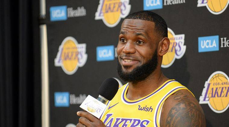 Los Angeles Lakers forward Le Bron James during media day at UCLA Health Training Center