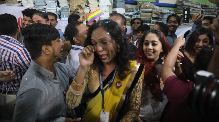 Section 377 Supreme Court verdict today: While delivering the verdict, the court said the Constitution nurtures dissent as a safety valve of society. (Express photo/Nirmal Harindran)