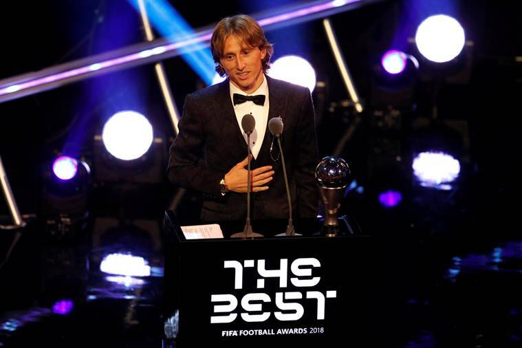 Real Madrid star Luka Modric wins FIFA The Best award