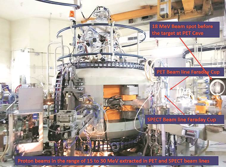 Cyclotron, cancer treatment, mumbai particle accelerator, Bhabha Atomic Research Centre, indian express