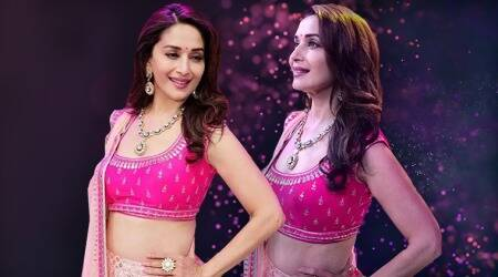 Madhuri Dixit brings festive cheer early with this Anita Dongre outfit