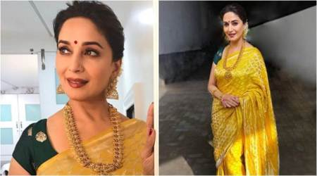 Madhuri Dixit looks like a dream in this Raw Mango sari